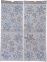 Sneeuwvlokken raamsticker / kerst raamdecoratie - 30 x 46 cm