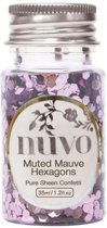 Tonic Studios Nuvo confetti 35ml muted mauve hexagons