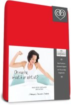 Bed-Fashion Mako Jersey hoeslakens de luxe 90 x 220 cm rood