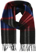 Profuomo sjaal woven scarf ruit bordo_ONESIZE, maat One size