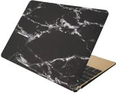 Macbook cover - MacBook Pro 15 inch case - Marble - zwart