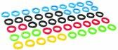Silverline Gekleurde plastic sleutelhoesjes, 50 Stuks
