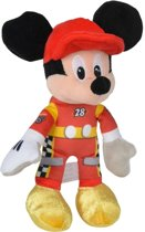 Disney pluche Mickey Mouse auto race knuffel 21 cm