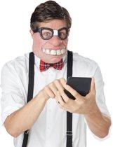 Nerd half masker voor volwassenen - Verkleedmasker