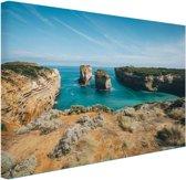 De eilandboog Canvas 180x120 cm - Foto print op Canvas schilderij (Wanddecoratie woonkamer / slaapkamer) XXL / Groot formaat! / Zee en Strand