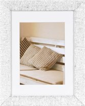 Henzo Driftwood Fotolijst - Fotomaat 18x24 cm - Wit