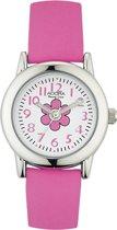 Meisjes horloge van het merk Adora -met leren bandje-roos AY4370