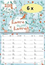 4 Weken kalender 2018 - Mgpcards - 4 weken/1 pagina - 43 x 34 cm