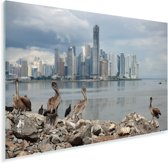 Donkere wolken boven Panama Stad Plexiglas 60x40 cm - Foto print op Glas (Plexiglas wanddecoratie)