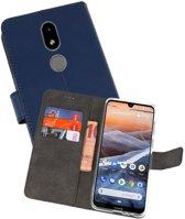 Wallet Cases Hoesje voor Nokia 3.2 Navy
