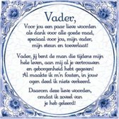 Bol Com Delfts Blauwe Spreukentegel Vader Gedicht Delfs Blauwe