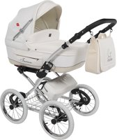 Tutek Turran Silver - Kinderwagen - Eco Leather White