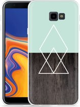 Galaxy J4 Plus Hoesje Wood Simplicity