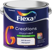 Flexa Creations Muurverf - Extra Mat - Mengkleuren Collectie - Wit Braam - 2,5 liter
