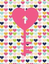 Key Hearts Notebook - Blank Unlined Paper