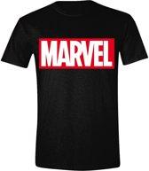 Marvel - Logo Mannen T-Shirt - Zwart - S