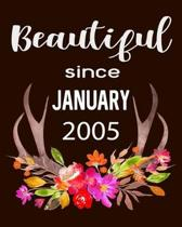 Beautiful Since January 2005: Hunting Hobby 2020 Monthly Planner Dated Journal 8'' x 10'' 110 pages