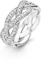 Ti Sento Milano 12025ZI Ring - Ring met stenen - Zilver witgoudverguld