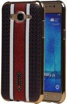 Samsung Galaxy J5 Hoesje M-Cases Ruit Design TPU Backcover Bruin