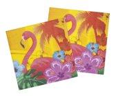 48 stuks: Set a 12 Servetten - Flamingo - Hibiscus - 33x33cm