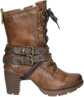 1292601 - High heels korte laarzen - Dames - Maat 36 - Bruin;Bruine - 301 -Kastanie