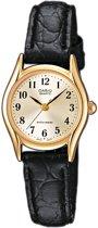 Casio LTP1154Q-7B2EF - Horloge - 23 mm - Leer - Zwart