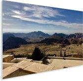 Uitzicht over het land van de oude stad Petra Plexiglas 160x120 cm - Foto print op Glas (Plexiglas wanddecoratie) XXL / Groot formaat!