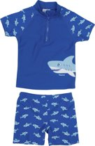 Playshoes UV zwemsetje Kinderen Shark - Blauw - Maat 86/92
