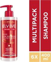 L'Oréal Paris Elvive Low Shampoo - 6 x 400 ml - Voordeelverpakking