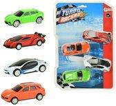Toi-toys Raceauto's Pull Back 4-delig 9 Cm Multicolor