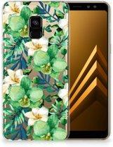 Samsung Galaxy A8 Plus (2018) TPU Case Orchidee Groen