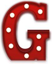 Giggle Beaver Carnival G - Tafellamp - Rood