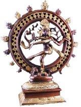 Shiva Nataraj messing 2-kleurig - 20 - 1020 - Messing