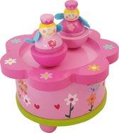 Afbeelding van Playwood - Houten muziekdoos dansende prinses roze speelgoed