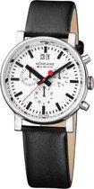 Mondaine A690.30304.11SBB Horloge - Leer - Zwart - 40 mm