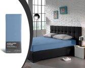 Home Care Supreme Katoen - Hoeslaken - 160x200 - Blauw