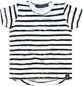 Your Wishes Unisex T-shirt Stripes - wit - Maat 98/104