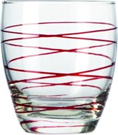 Montana Swirl Sapglas - Rood - 6 stuks