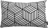 Black Illusion Long Kussenhoes | Katoen / Flanel | 30 x 50 cm