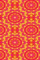 Hot Pink and Yellow Kaleidoscope Pattern
