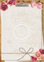 Schrijfblok Roses - 50 vel A4 formaat gelinieerd papier