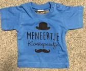 Baby shirt met opdruk '' meneertje.... maat 68 blauw