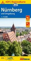 ADFC Regionalkarte Nürnberg und Umgebung mit Tagestouren-Vorschlägen, 1:75.000
