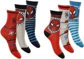 6 paar sokken Spiderman maat 23/26