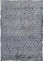 Modern tapijt met ruitdessin zwart - 120 x 180 cm