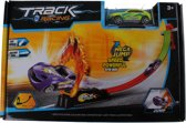 Lg-imports Track Racing Met Auto Geel 80 Cm