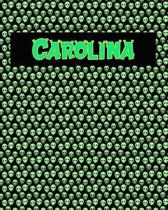 120 Page Handwriting Practice Book with Green Alien Cover Carolina