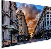 Zonsondergang in het centrum van Buenos Aires in Argentinië Plexiglas 120x80 cm - Foto print op Glas (Plexiglas wanddecoratie)