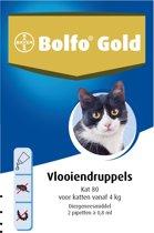 Bolfo Gold 80 Anti vlooienmiddel - Kat - >4 kg - 2 pipetten