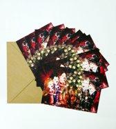 Set van 10 luxe kerstkaarten MERRY X-MAS